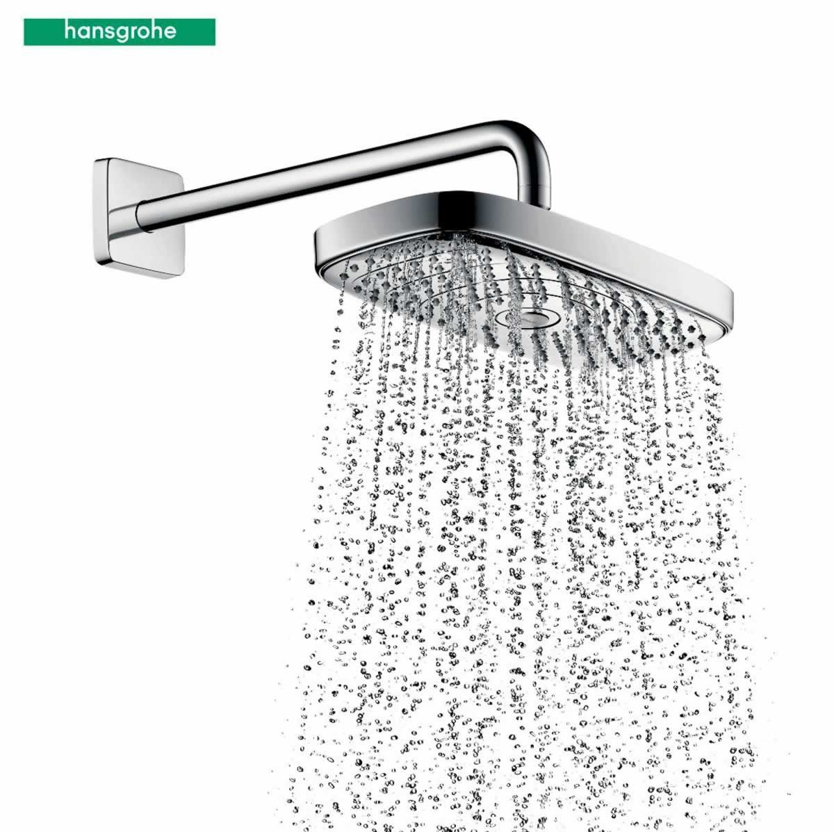 Hansgrohe Raindance Select E300 2jet Shower Arm And Rose Chrome