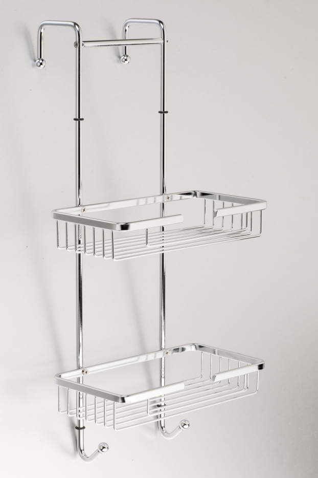Gio Hanging Shower Caddy Double Stainless Steel The Bathroom